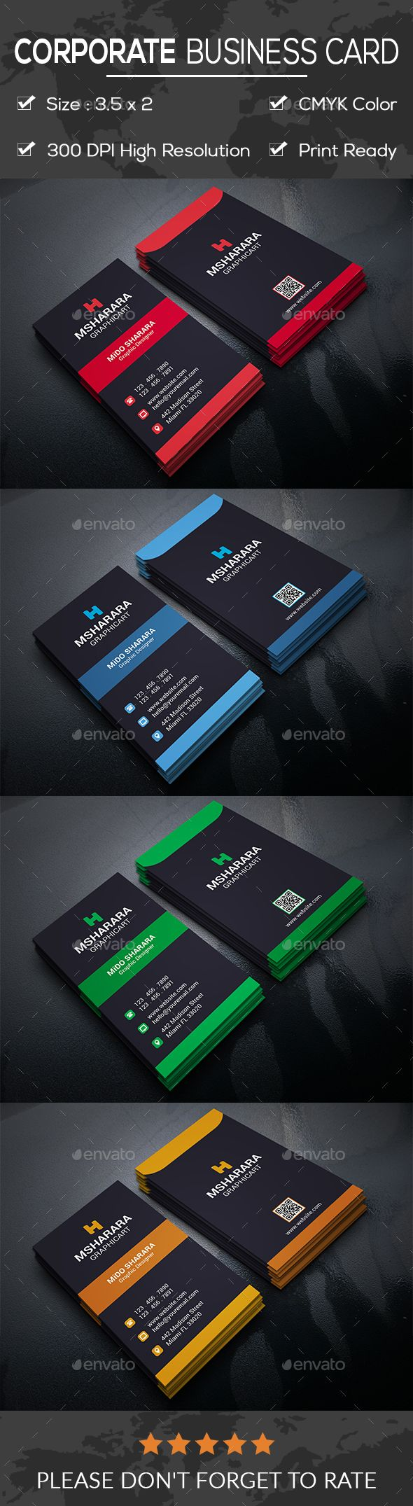 Corporate business card visita reheart Gallery