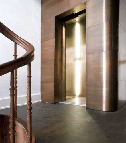 Copper elevator shaft ascenseur pinterest ascenseur et interieur - H2c architekten ...