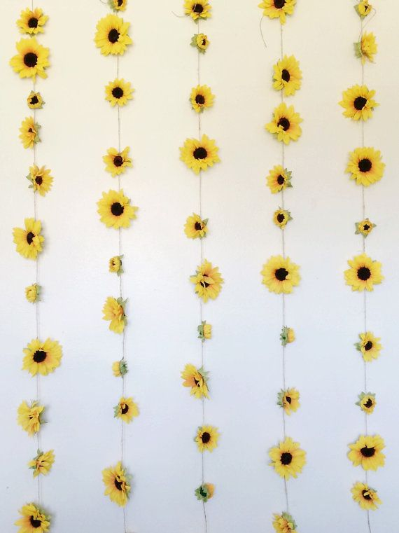 This Garland Is Made With The Brightest Yellow Sunflowers They