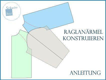 Raglanärmel selber konstruieren #shirtschnittmuster