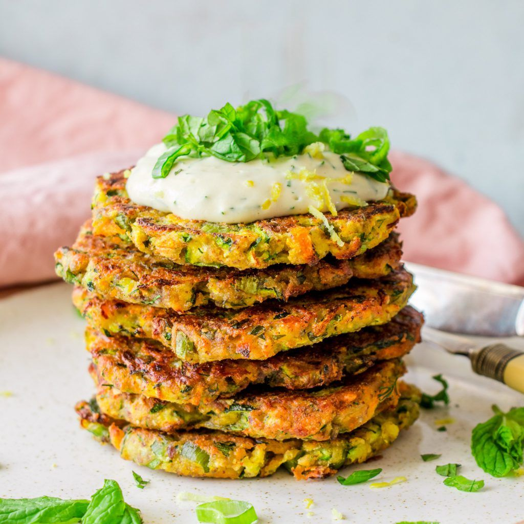 Zucchini Fritters With Dill Sour Cream The Tasty K Recipe Zucchini Fritters Fritters Filling Recipes