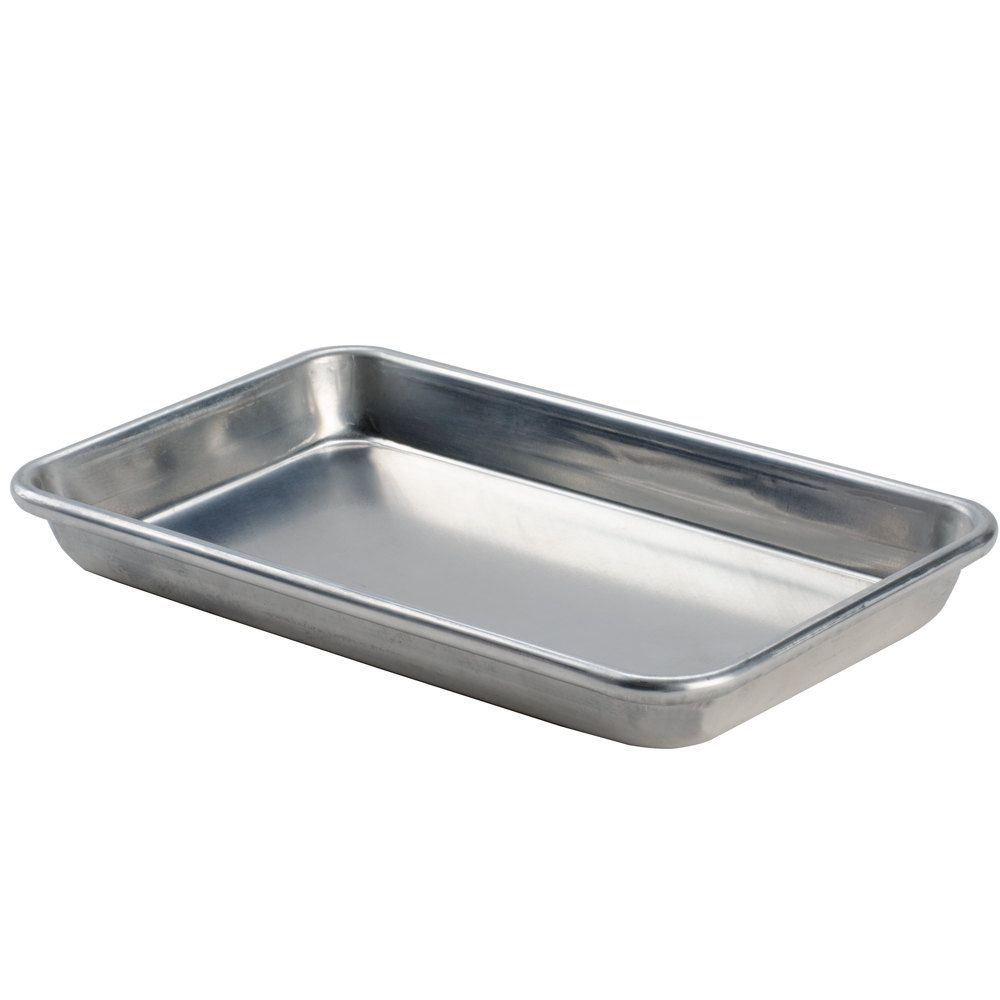 Baker S Mark Eighth Size 19 Gauge 6 1 2 X 9 1 2 Wire In Rim Aluminum Bun Pan Sheet Pan Sheet Pan Pan Rim
