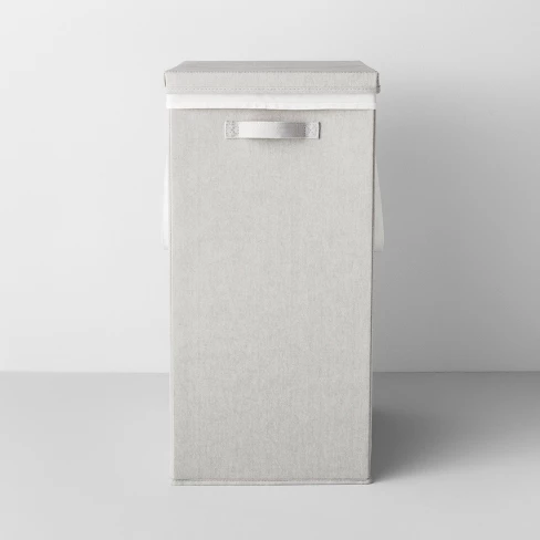 Made By Design Collapsible Hamper With Laundry Bag Light Gray