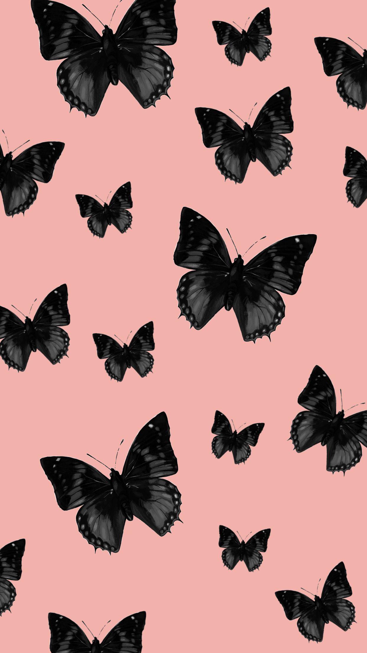 Black Butterflies Wallpaper Butterfly Wallpaper Beautiful Wallpapers Backgrounds Iphone Background Wallpaper
