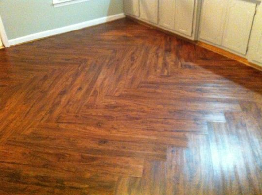 Chevron Vinyl Planks I Could Do This Basement In