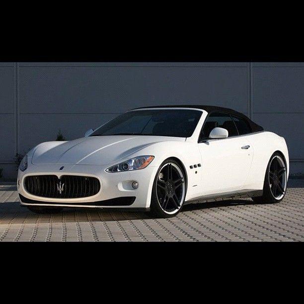 Maserati Grancabrio White Maserati Maserati Car Maserati Granturismo