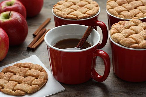 Pie cookies & lattice tops for cider by @Cheryl Tidymom What fantastic ideas!