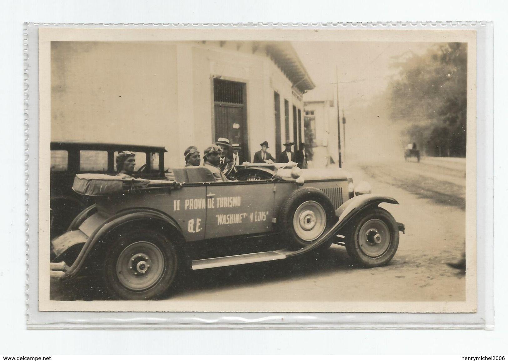 Photographie Course Automobile Graham Paige , Sao Paulo Brésil Format Carte Photo - Automobiles
