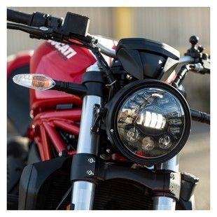 Phares Noir pour Chopper Cruiser Kawasaki yamaha ducati moto