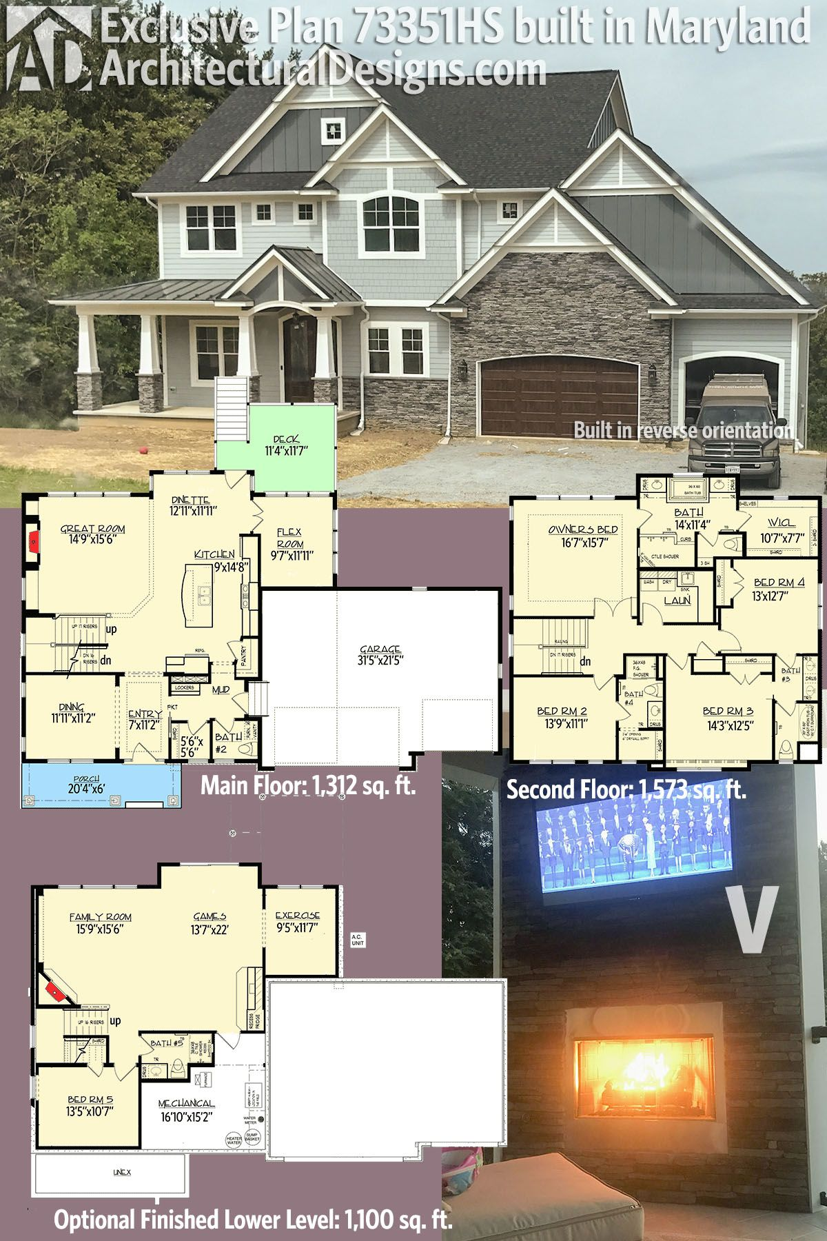 Plan 73351hs High End Style House Plans Dream House