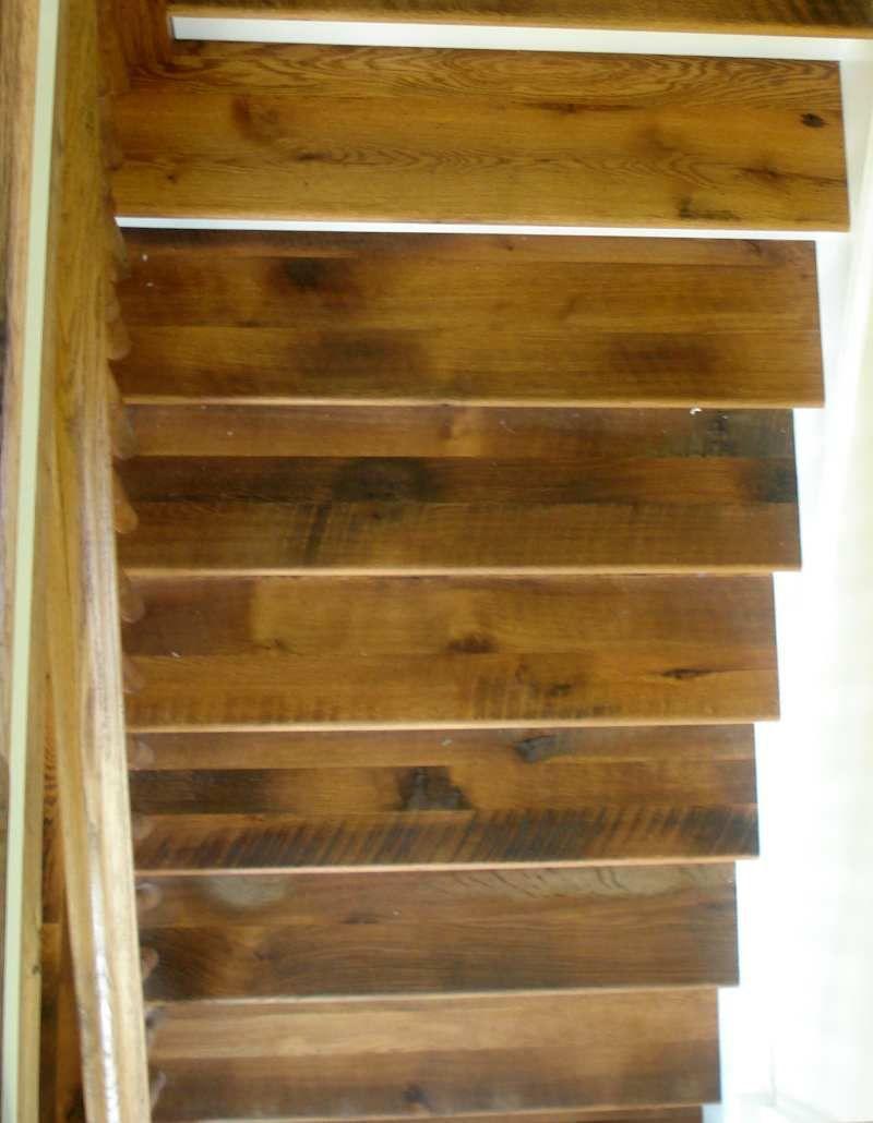Antique Barnboard Oak Stair Treads Oak Stairs Wood | Custom Oak Stair Treads