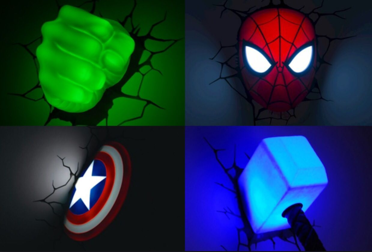 3d marvel wall night lights lil mans room pinterest walls 3d marvel wall night lights aloadofball Image collections