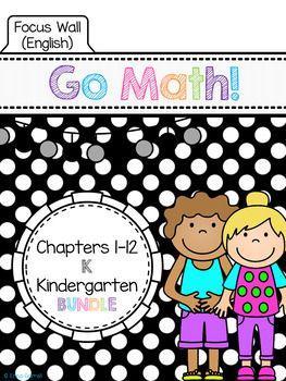Go Math Kindergarten Focus Wall Bundle Kindergarten Focus Walls