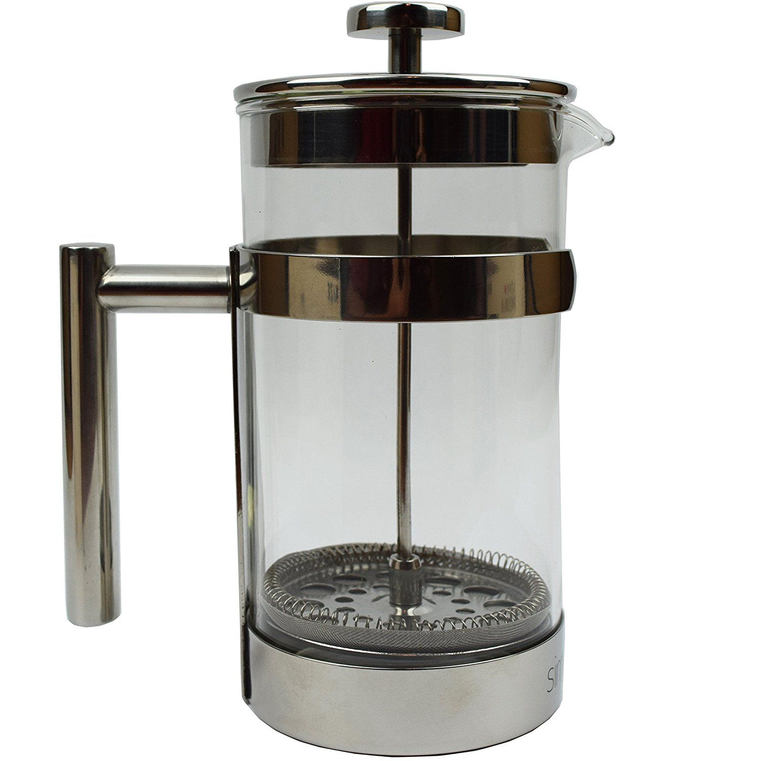 simple modern french press coffee and tea maker   liter  double  - simple modern french press coffee and tea maker   liter  double filter bonus