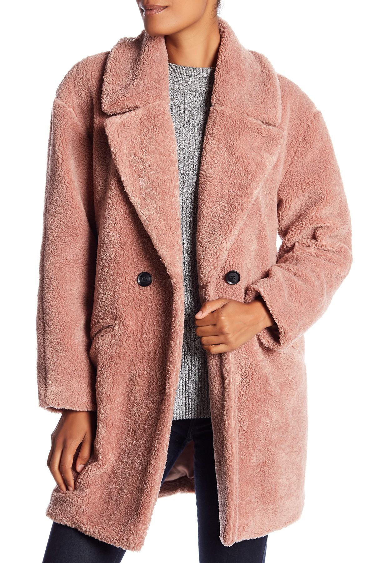 7a5319d6105 Image of Lucky Brand Missy Teddy Bear Faux Fur Jacket