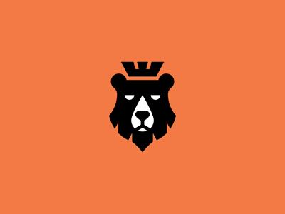 simplicity and really nice detail - Bear #logo design by Nikita Lebedev #identity