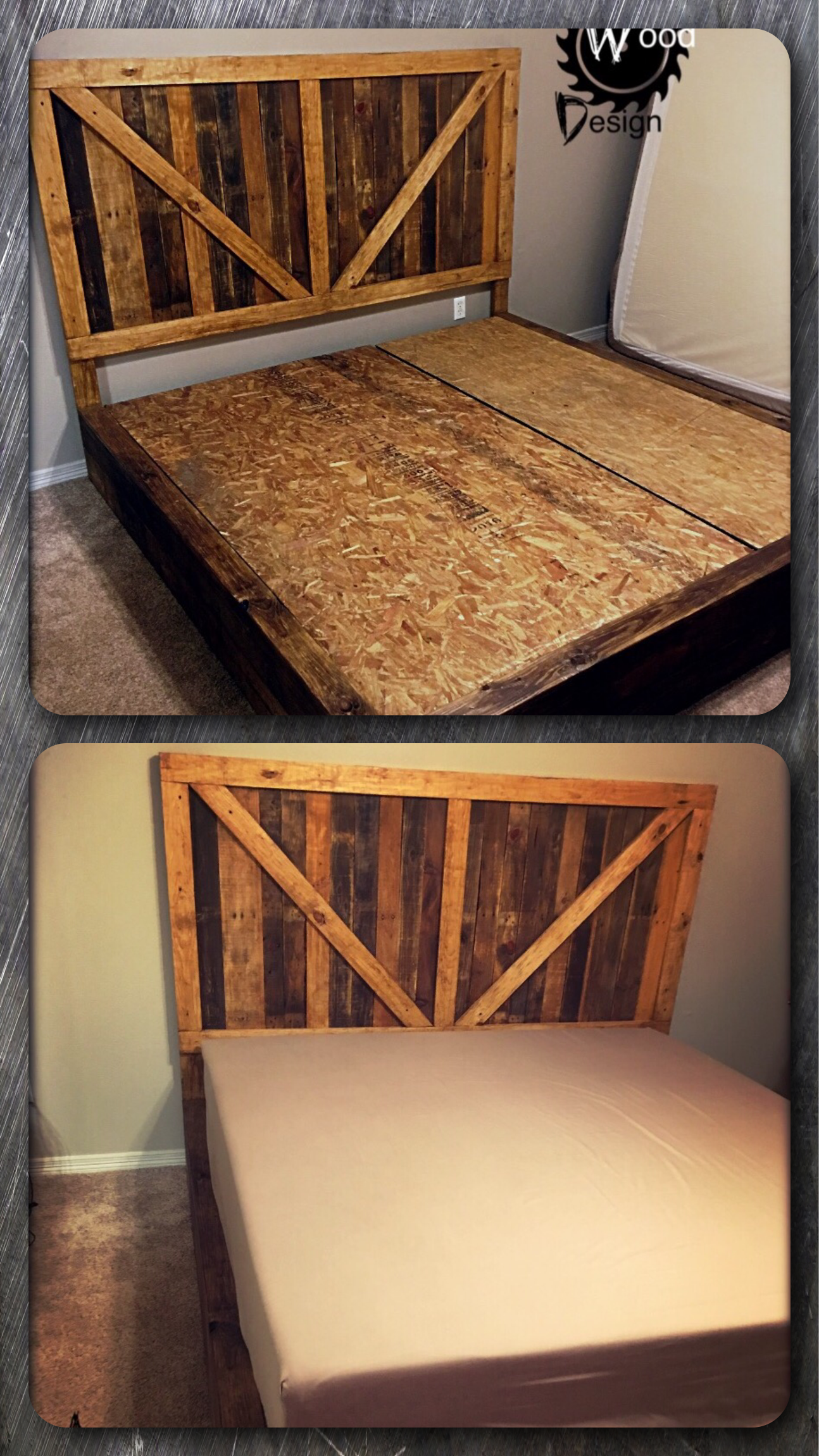 Pallet Platform Bed built by Angry Wood Design. Holzdesign