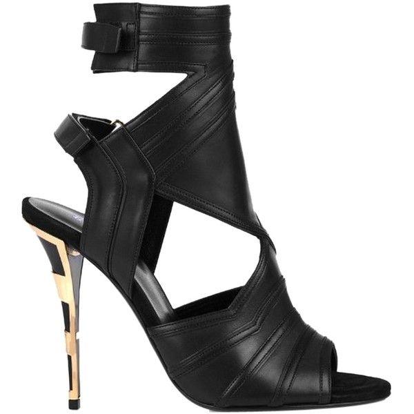 Pre-owned - Leather heels Balmain Vz1XKS