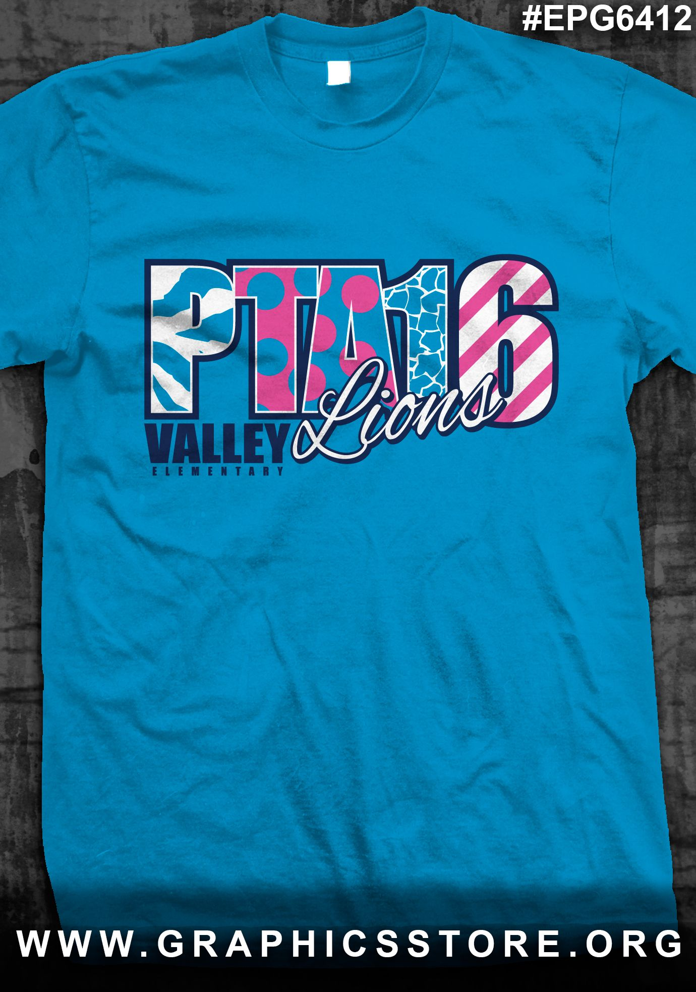 a0919e8ae EPG6412 Crazy Print PTA Shirt Design