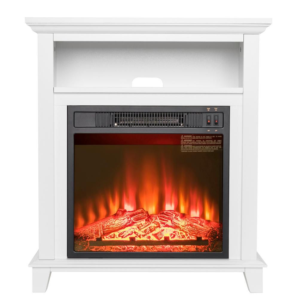 27 In Freestanding Electric Fireplace Insert Heater In White With Tempered Glass With Storage Space Electric Fireplace Heater Wood Burning Fireplace Inserts White Electric Fireplace