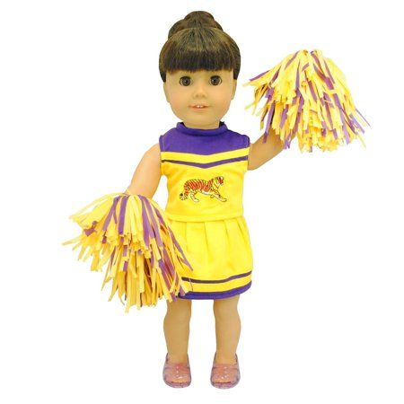 Doll Clothes - Cheerleading Outfit Fits American Girl My life Dolls and 18 inches Dolls cheerleader - Walmart.com