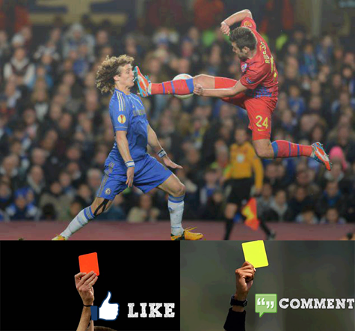 what would you give like red card comment yellow card fútbol