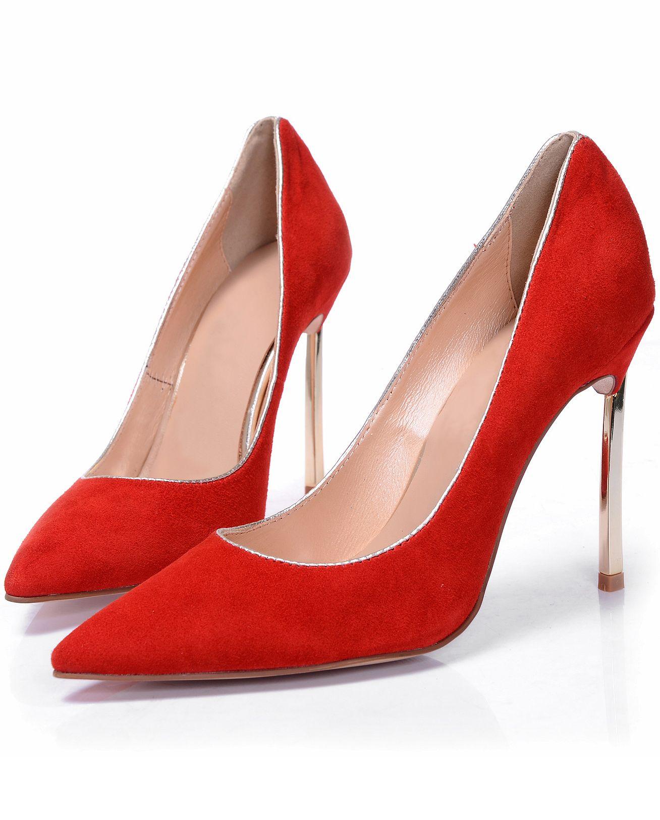 Orange High Heel Stiletto Point Toe Shoes Shein Sheinside