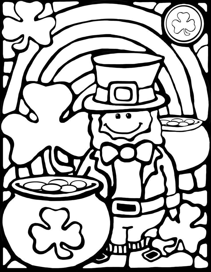FREE! A cute leprechaun coloring sheet for St. Patrick's