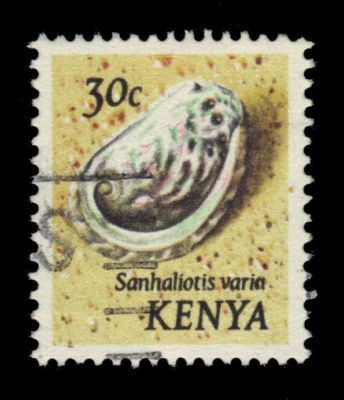 KENYA 30c Variable Abalone Shell 1971