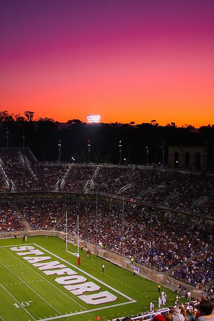 Stanford Stadium Sunset Stanford Ca Standford University Dream College Stanford University