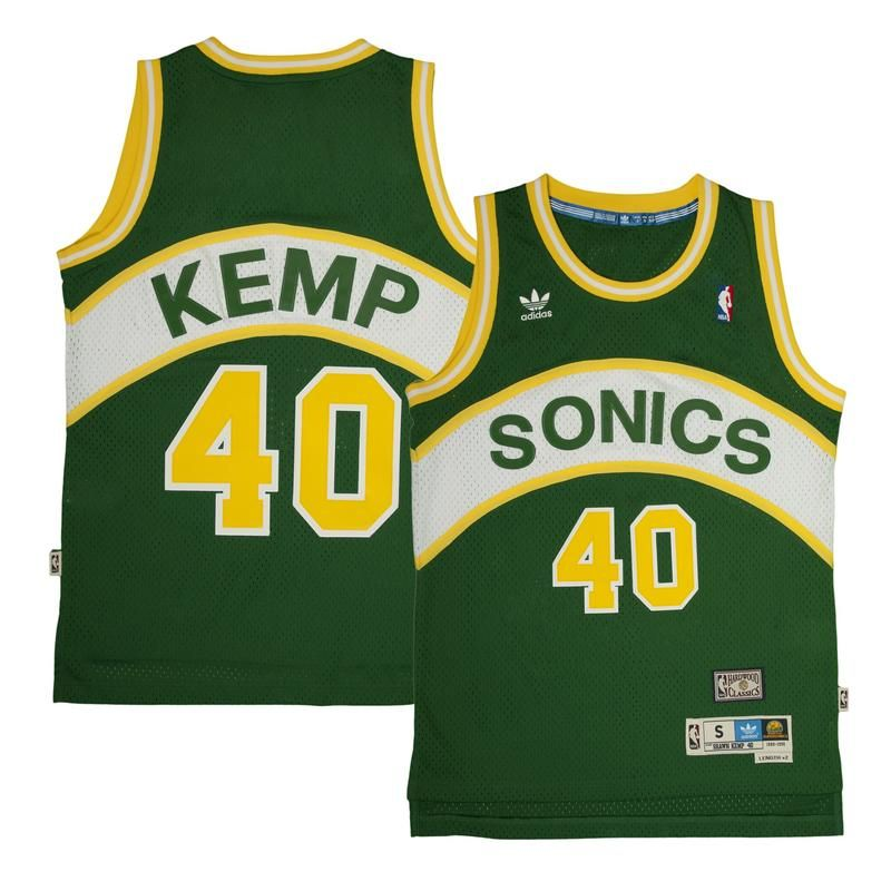 info for c4b97 bede5 Shawn Kemp Jersey - Seattle SuperSonics - Adidas Green ...