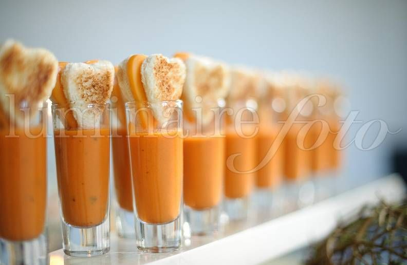 Grilled Cheese Tomato Soup Shooters Unique Reception Food Tail Hour So Doing This At My Wedding