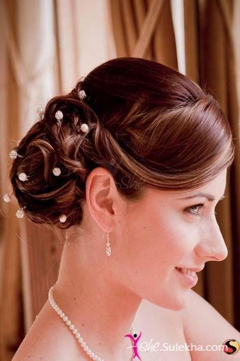Side Bun Wedding Hairstyle-Side Bun Wedding Hairstyle Photo ...