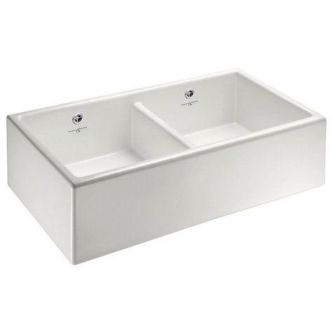 Buy Perrin & Rowe Shaker 900 2 Bowl Farmhouse Ceramic Kitchen Sink ...
