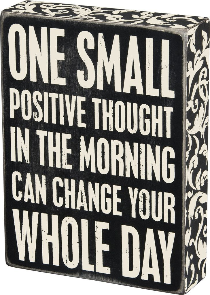 Box Sign - Positive Thought