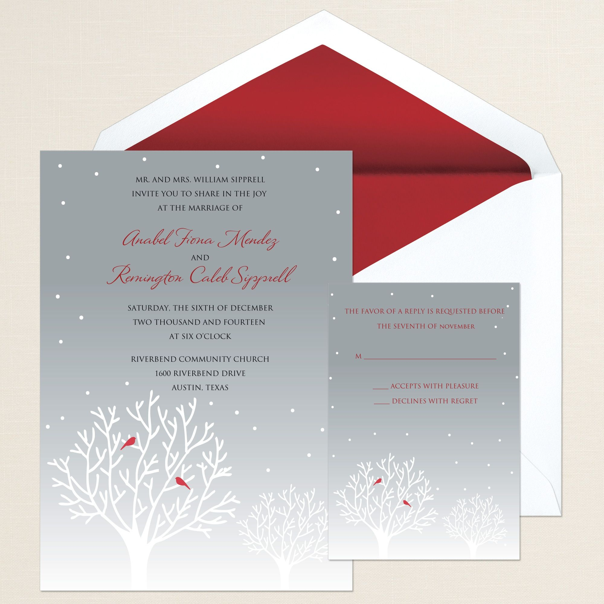 Winter\'s Essence Wedding Invitation | #exclusivelyweddings ...