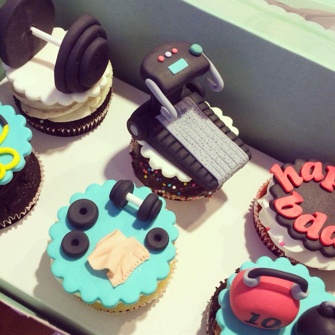 Gym Theme Cupcakes Custom Cupcakes By Cup Cake Factory In 2019 Cupcake Cakes Gym Cake Cupcakes