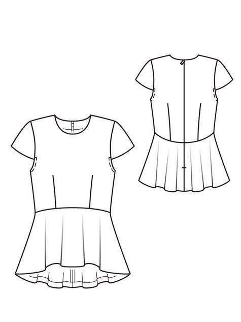 Peplum Top 08/2012 #113 | Sewing patterns, Patterns and Peplum top ...