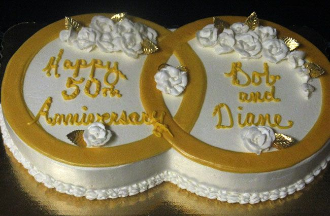 gold rings for 50th anniversary Interlocking gold rings for a