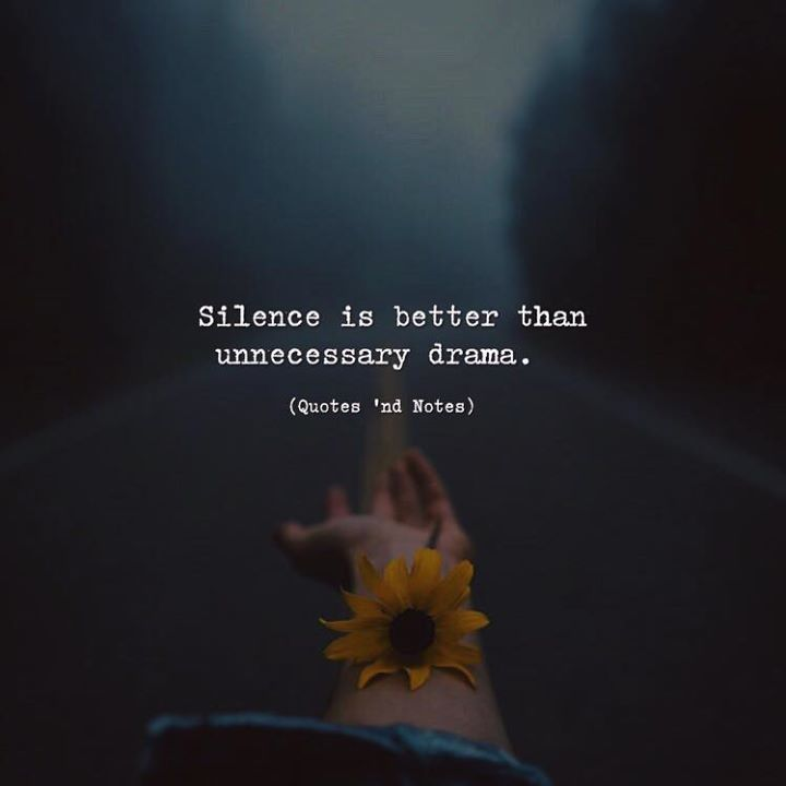 Silence Is Better Than Unnecessary Drama Via Http Ift Tt 2lklprj Silence Is Better Drama Quotes Cool Words