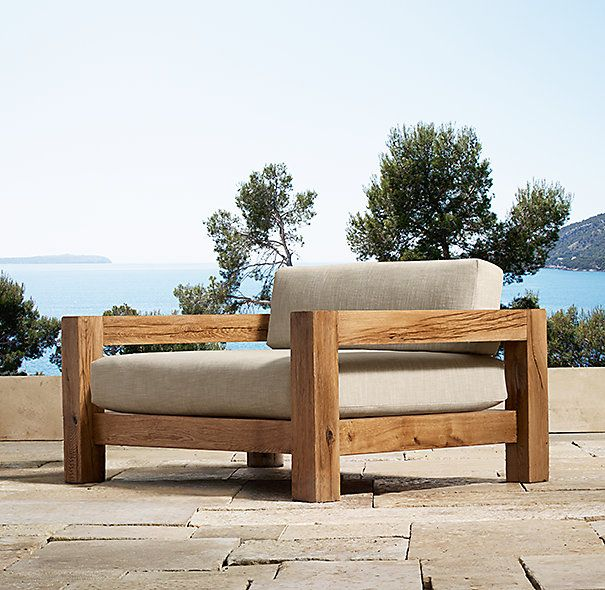 Restoration hardware colorado lounge chair backyard for Restoration hardware teak outdoor furniture