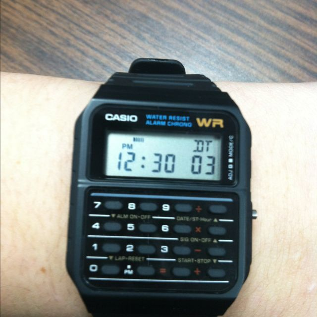 My calculator watch:) I am a math major:) | Mathematics and Academia ...
