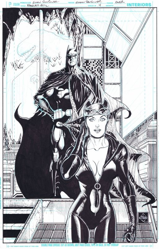 Forever Evil #4  Catwoman and Batman by Ethan Van Sciver *
