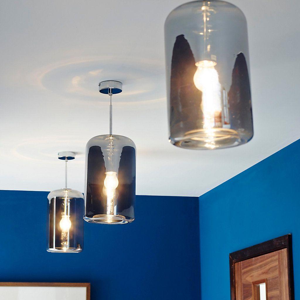 Kynes Smoked Chrome effect Pendant ceiling light | Ceiling ...