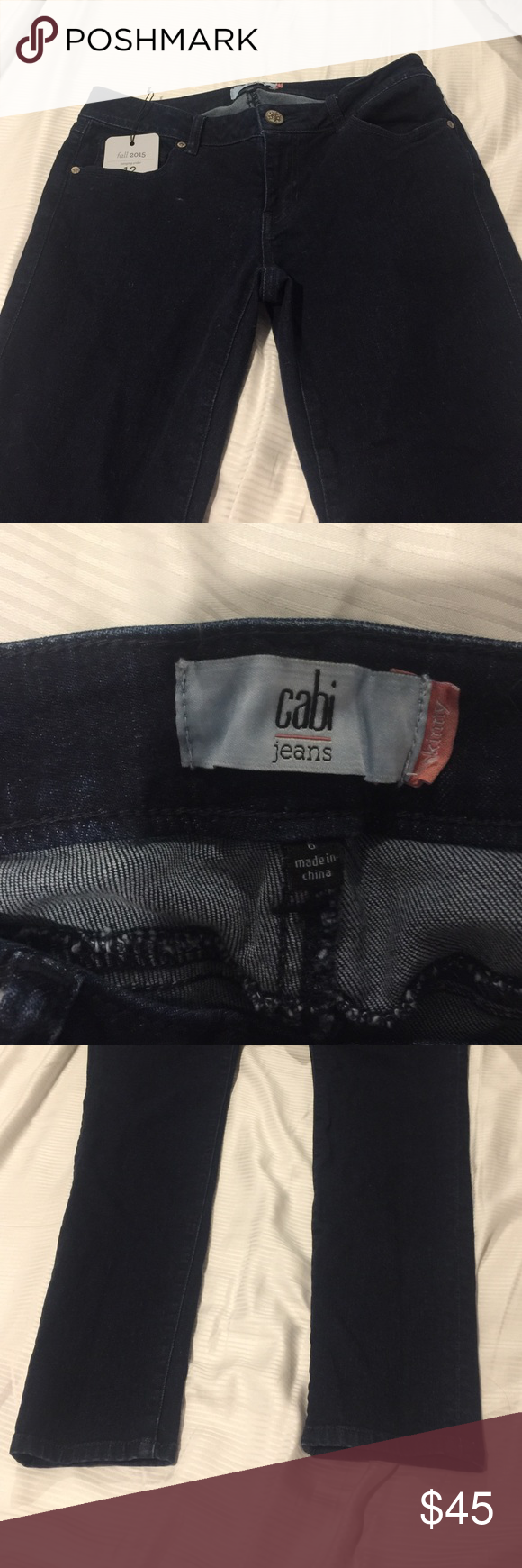 Cabi Knight Skinny Jeans size 6 Brand New washed once never worn Cabi Knight Skinny Jean from the Fall 2015 collection! 98% cotton 2 % spandex. Size 6 CAbi Jeans Skinny