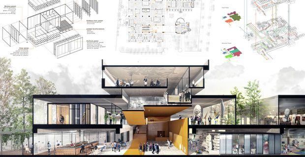 Concorso space to culture i progetti vincitori cartelli for Progetti architettura on line