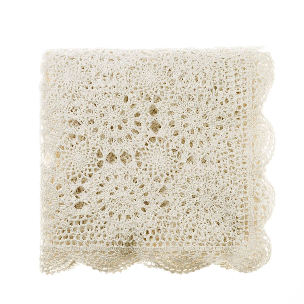Adairs Throw Blanket Antique Lace