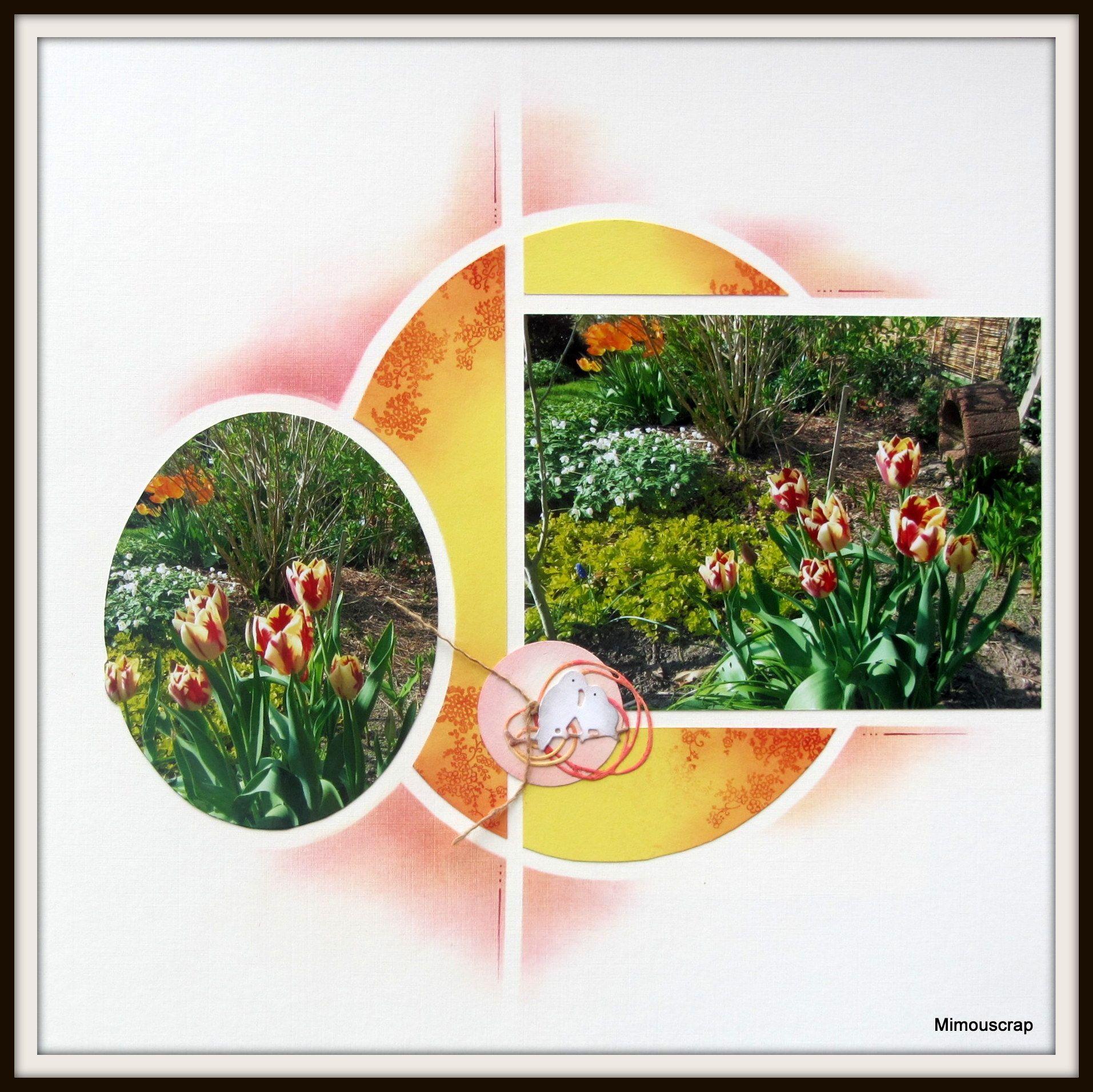 Jardin de Mimou Tulipes Le scrap européen de