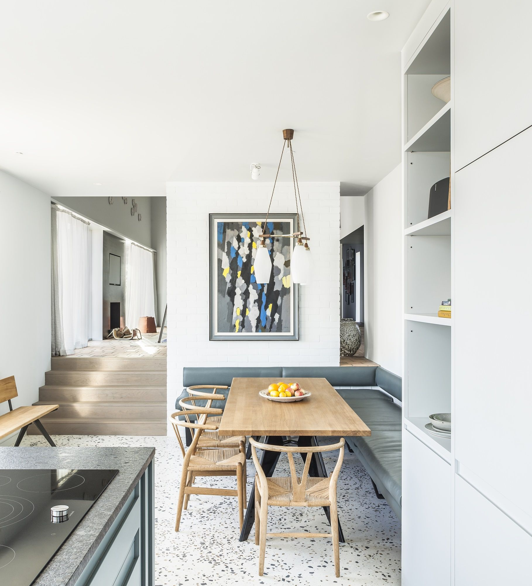 Küchenideen fliesenboden ebb and flow marsh hill by mole architects  terrazzo flooring