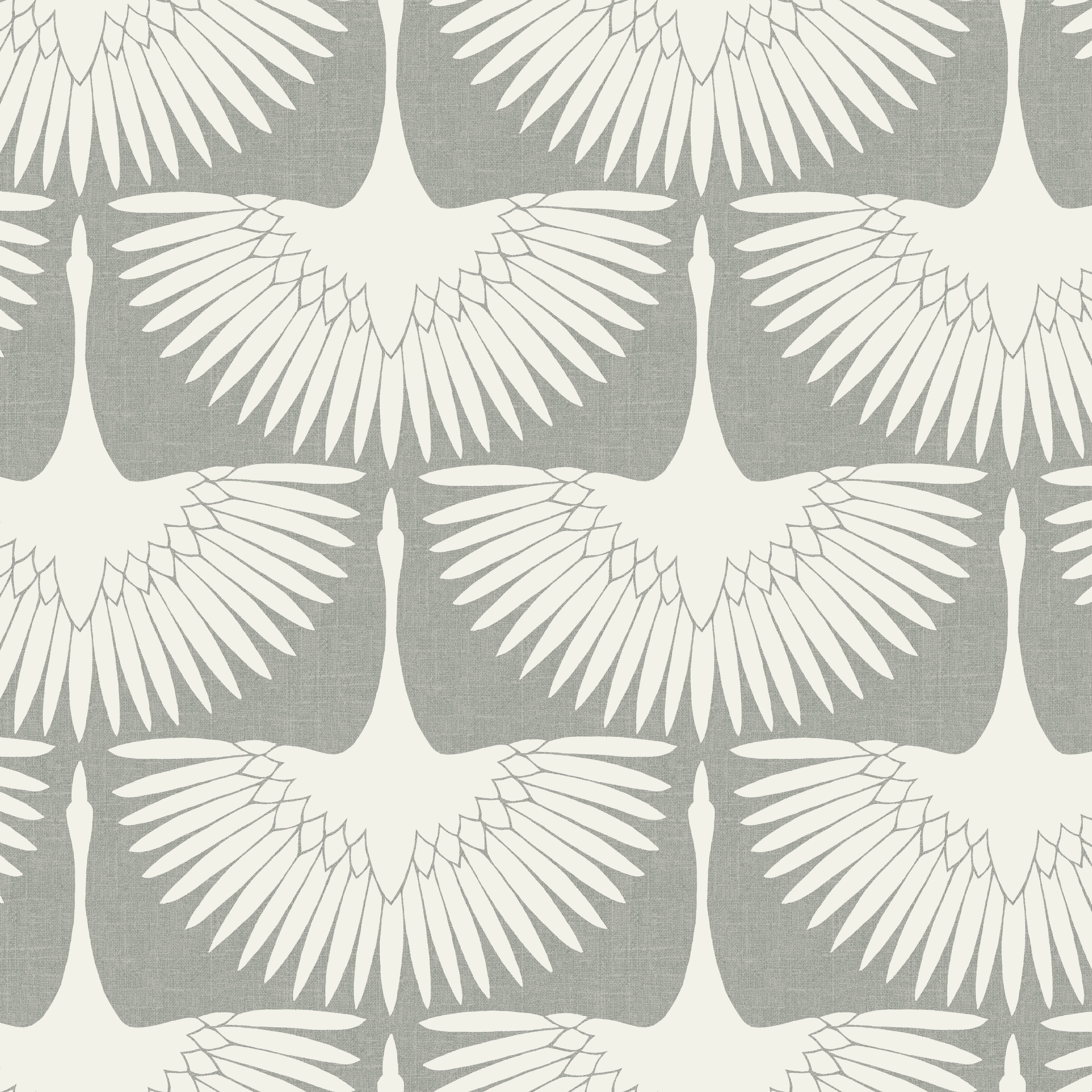 Feathered Removable Wallpaper White Flock Wallpaper Peel And Stick Wallpaper Removable Wallpaper